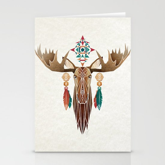 moose Stationery Card
