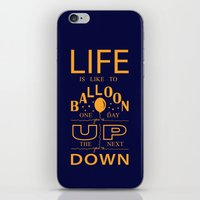 Life is like to balloon iPhone & iPod Skin
