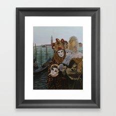 Venice carnival Framed Art Print