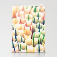 Stripes & Straws Stationery Cards