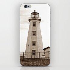 North Cape Lighthouse Sepia iPhone & iPod Skin