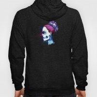 Blue Purple Sugar Skull Watercolor Hoody