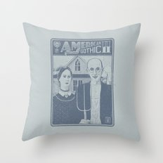 American Gothic II Throw Pillow