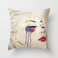 Tears Throw Pillow