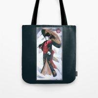 Japanese Woman Street Ar… Tote Bag