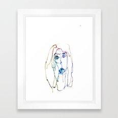 conflicted face Framed Art Print