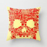 8-bitter Throw Pillow