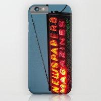 Vintage Neon Newstand Sign ~ Chicago Architecture iPhone 6 Slim Case