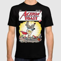 Action Toast Black SMALL Mens Fitted Tee