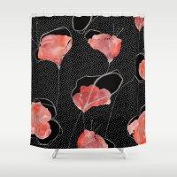 Poppy flower Shower Curtain