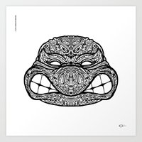 Teenage Mutante Lucha Turtles Art Print