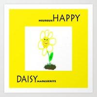 Happy Daisy Art Print