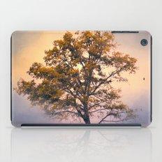 Pastel Skies Cotton Field Tree - Landscape iPad Case