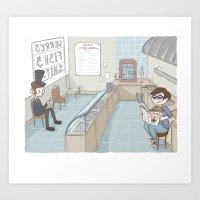 Hanging At The Fish And … Art Print