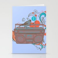 Retro Music Stationery Cards
