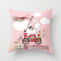 Runs Away Throw Pillow
