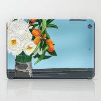 White Roses & Tangerines iPad Case