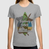 Sydney 2012 Womens Fitted Tee Athletic Grey SMALL