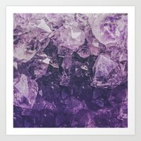 Amethyst Gem Dreams Art Print