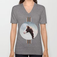 Paint Horse In The Snow Unisex V-Neck