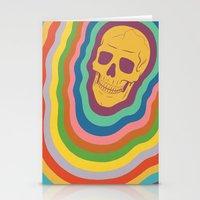 Trippy Rainbow Skull Stationery Cards