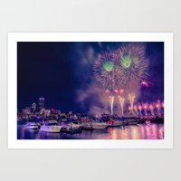 Happy Birthday America -3 Art Print