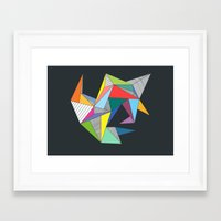 Abstract Triangles Framed Art Print