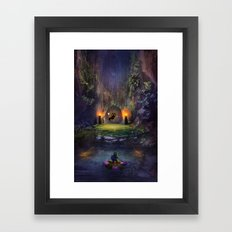 A Terrible Fate Framed Art Print