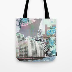 Media city Tote Bag
