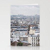 Snowy Paris Stationery Cards