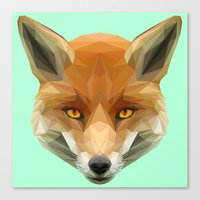 Poly the Fox Canvas Print