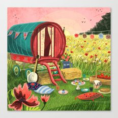 Gypsy Caravan at Sunset Canvas Print