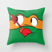 Who Watches The Pizza? Throw Pillow