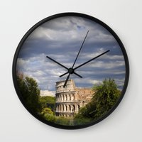 The Roman Colosseum  Wall Clock
