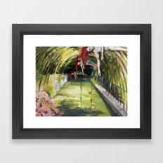 Agnes descending Framed Art Print