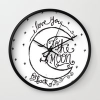 I LOVE YOU TO THE MOON A… Wall Clock