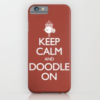 Keep Calm & Doodle On (Red) iPhone 6 Slim Case