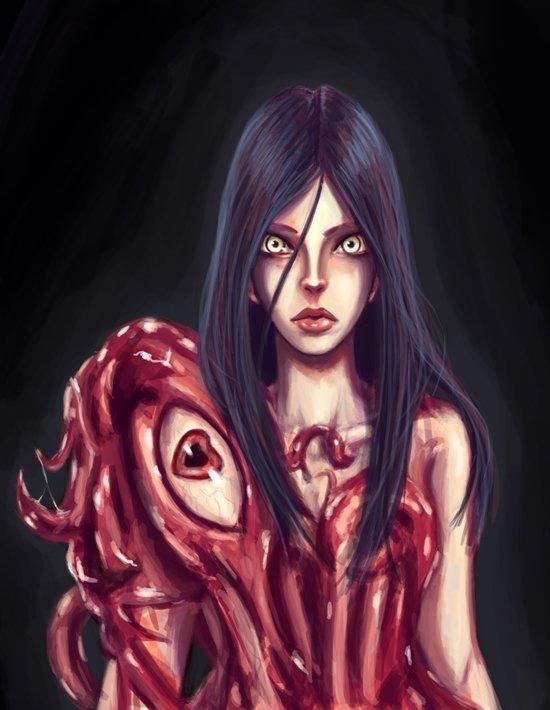 Flesh Maiden Art Print