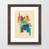 Meet Me At The Bridge Framed Art Print