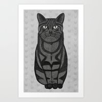 Sly Cat Art Print