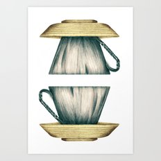 Cup Side Down Art Print