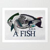 A fish - Kala Art Print