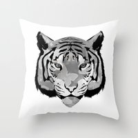 Tiger B&W Throw Pillow