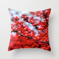 Festive Berries 2 Throw Pillow