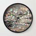 Glitter is a Girl's Best Friend Wall Clock