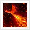 Immortal Flames Art Print