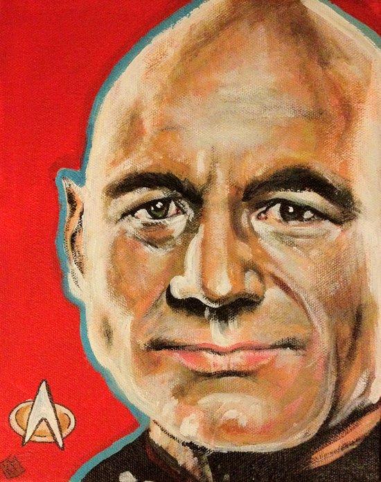 Jean Luc Picard Art Print