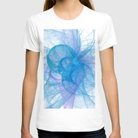 Circles Womens Fitted Tee White SMALL