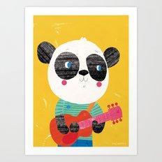 Guitar Panda Art Print