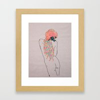 Jacs' Flowers Framed Art Print